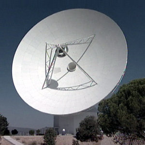 The new 35-metre deep space tracking station at Cebreros