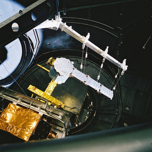 The reduced SMOS payload in the Large Space  Simulator