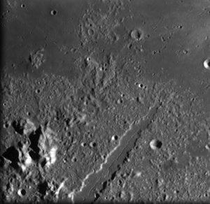 Vallis Alpes on the Moon, seen by SMART-1