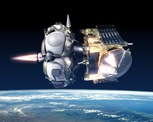 Artist's impression of ignition of  Fregat
