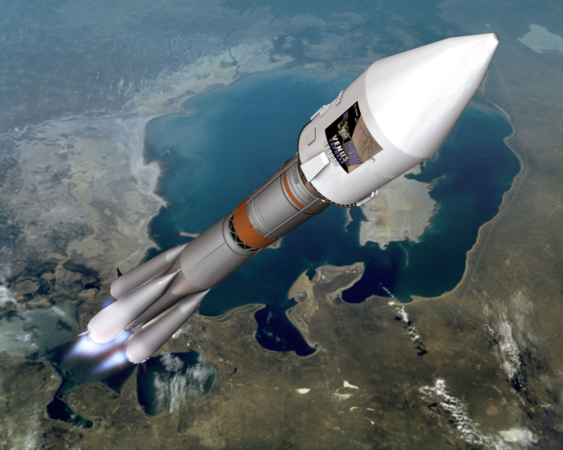 Artist's impression of Venus Express during launch