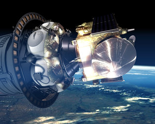 Artist's impression of Venus Express mounted on Fregat