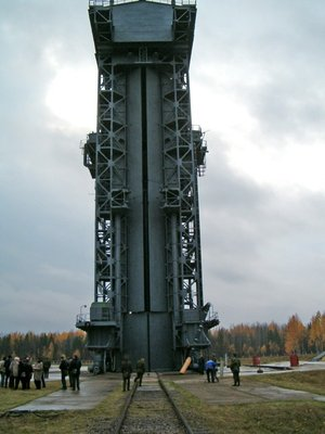 CryoSat's launch tower