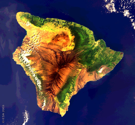 Envisat image of the volcanic island of Hawaii