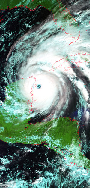 Envisat view of Hurricane Wilma, 21 October