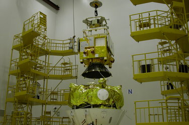 Mating of Venus Express, launch vehicle adapter and  Fregat