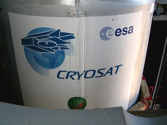 The CryoSat logo applied