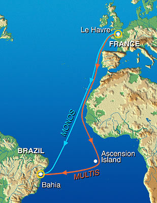 Transat Jacques Vabre from Le Havre, France, to Bahia, Brazil