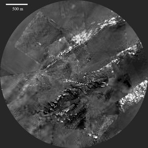 DISR view of Titan's surface from 1.2 km