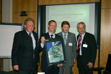 Dr. Otmar Bernhard,  Dr Liebig, Dr. Otto Wiesheu and Dr Erwin Huber, from left to right