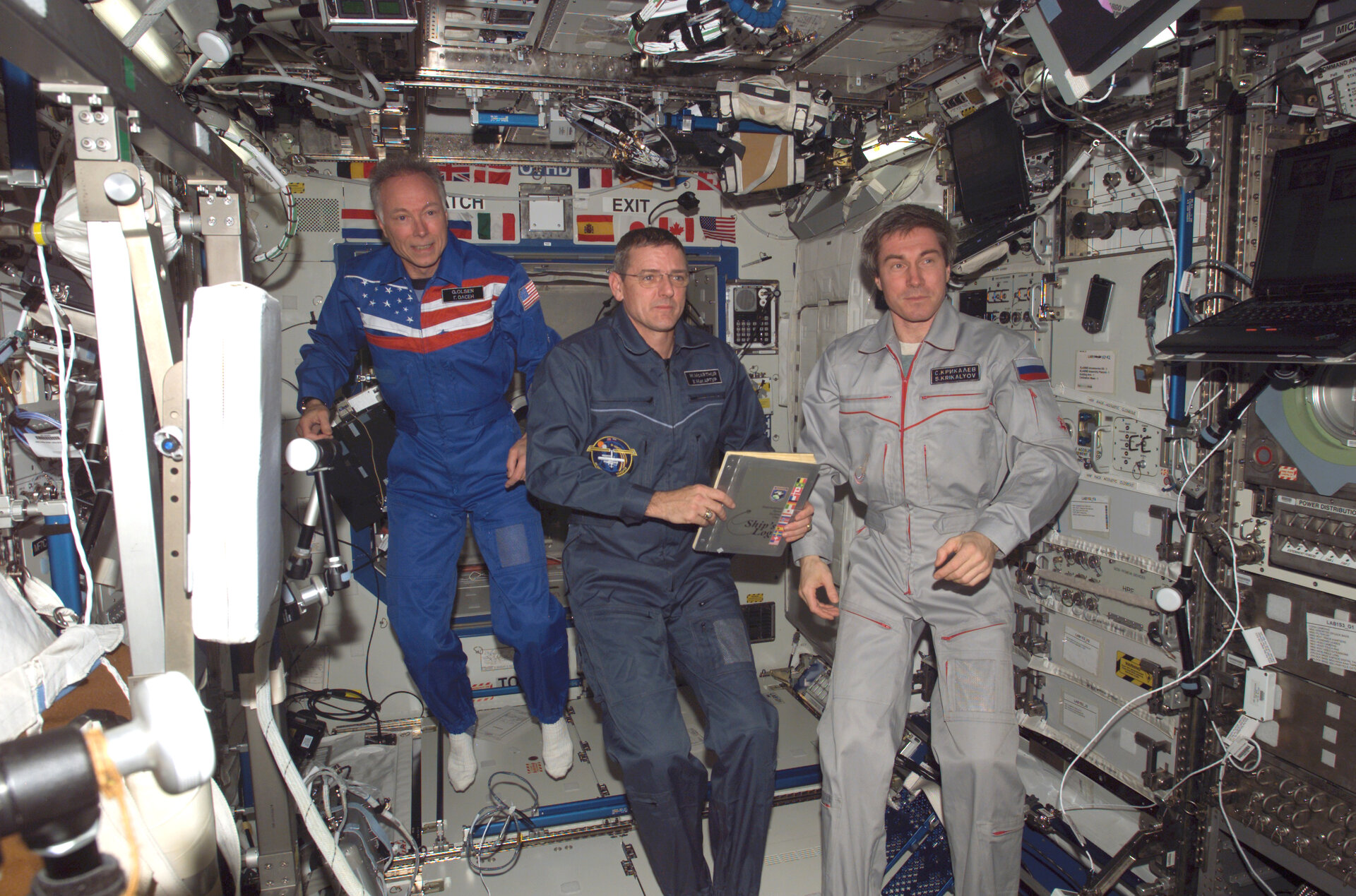 Dr Olsen spent 10 days on board the ISS in October 2005