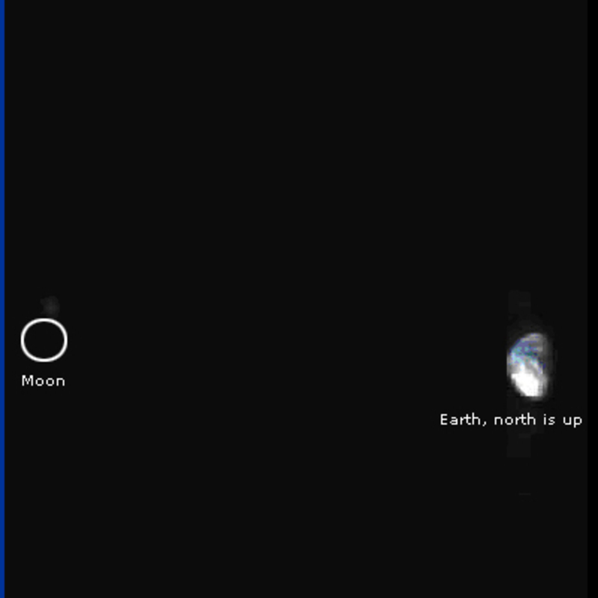 Earth and Moon system as seen by VIRTIS-M