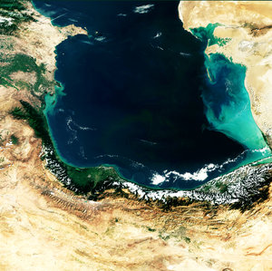 Envisat image of the southern Caspian Sea