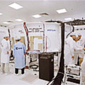 ESA and EADS engineers inside the ATV simulation facility
