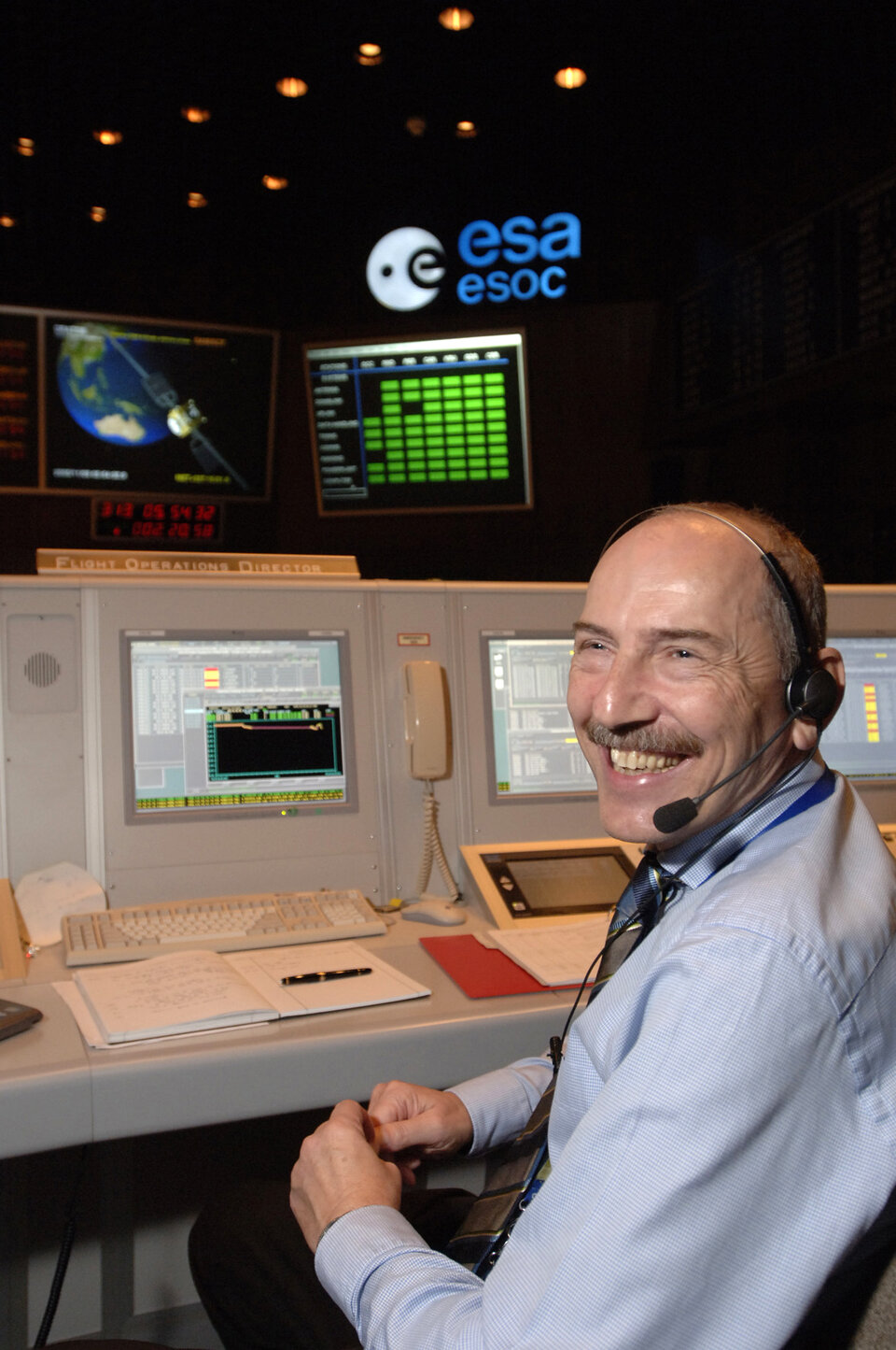 Flight Director Manfred Warhaut on console in 2006