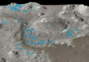 In Marwth Vallis, OMEGA mapped the water-rich minerals