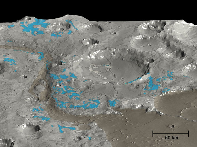 In Marwth Vallis, OMEGA maps the water-rich minerals