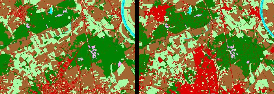 Land use change in the Netherlands