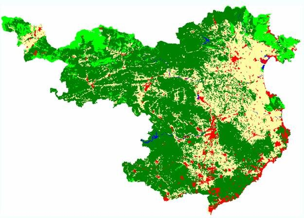 Land use map for Spain's Girona province 2001