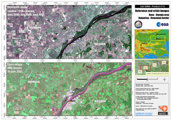 Map of the floods in Bulgaria