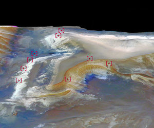 Mars Express's OMEGA instrument adds detail to Candor Chasma