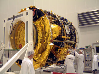 MSG-2  in horizontal position for platform inspection