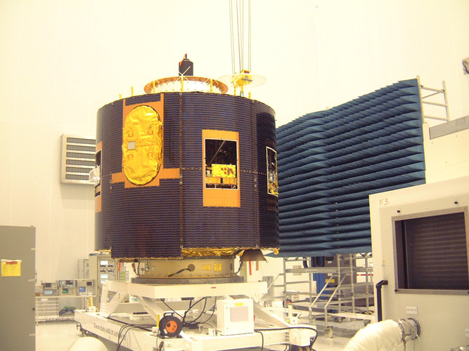 Preparation for MSG-2's antennas connection test