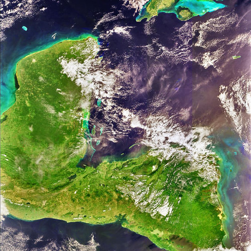 Envisat image of Central America