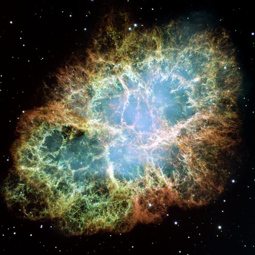 Giant mosaic of the Crab Nebula made of Hubble images