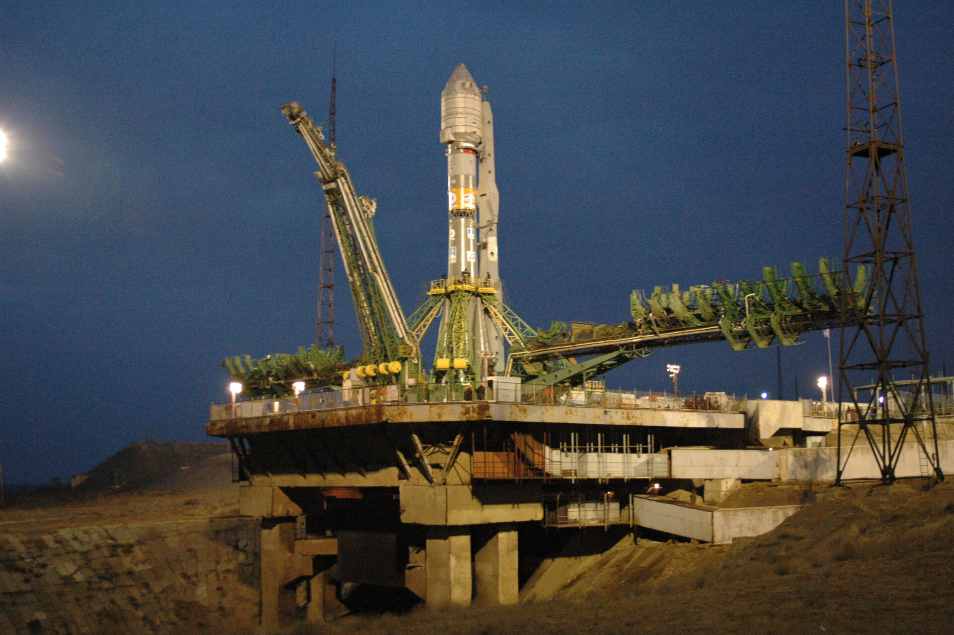GIOVE-A on the launch pad