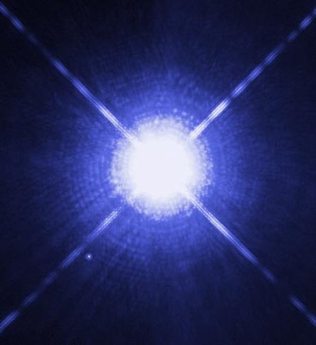 Hubble image of Sirius A, the brightest star in our nighttime sky