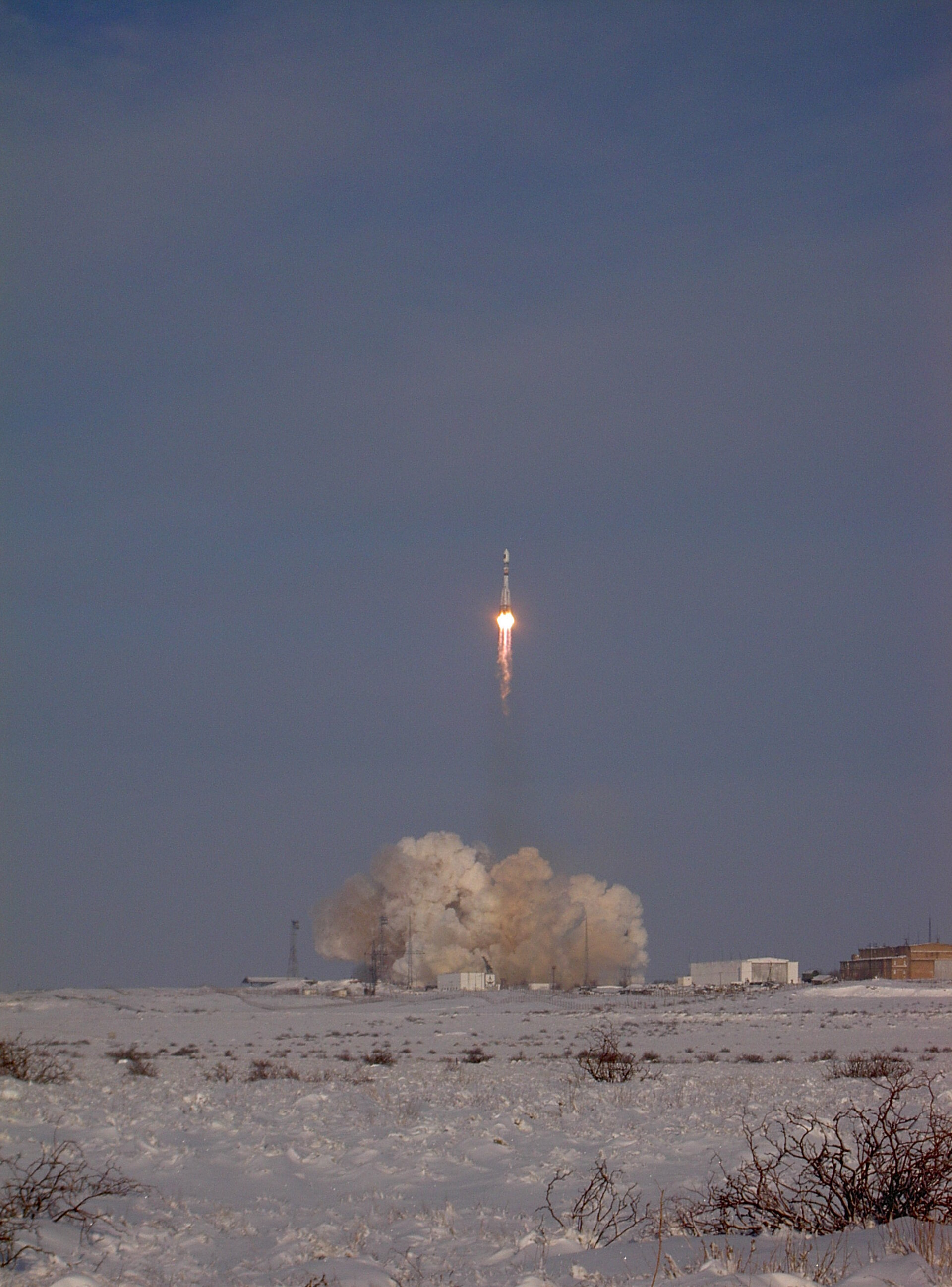 Lift off of Soyuz carrying GIOVE-A
