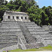 Mayan city in the Yucatan peninsula