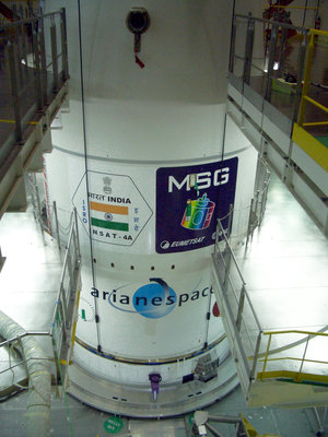 MSG-2 and INSAT-4A under fairing