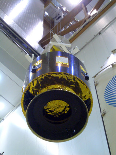 MSG-2 satellite being prepared for launch
