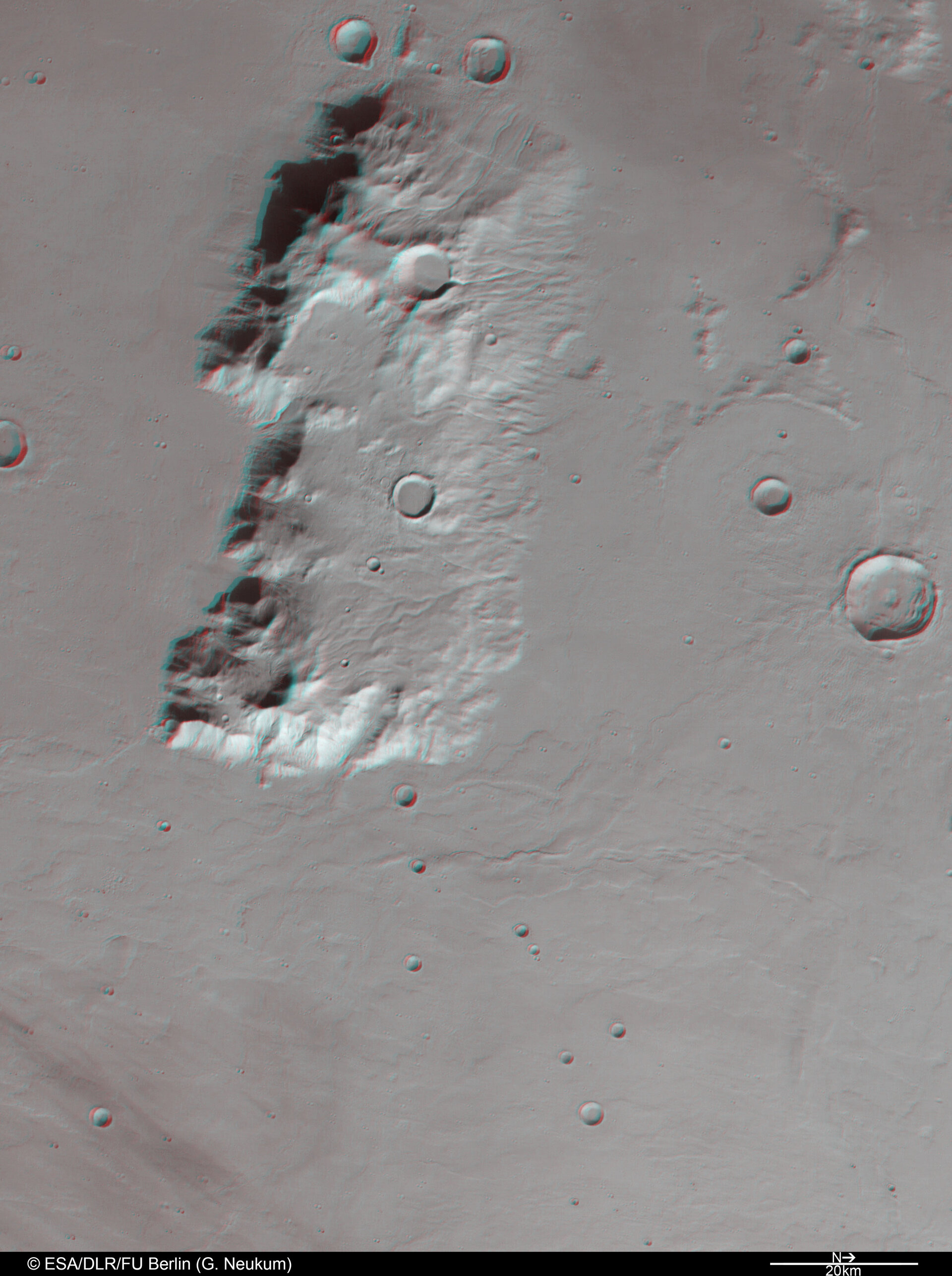 3D anaglyph view of Ausonia Mensa