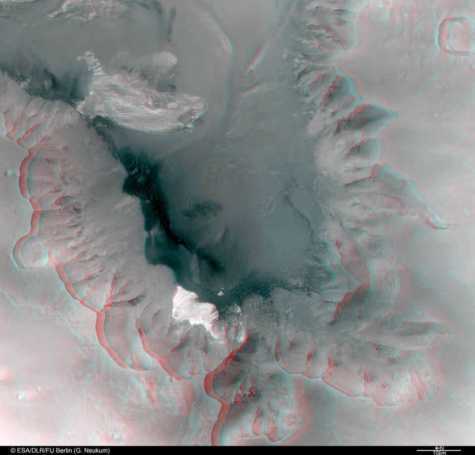 3D anaglyph view of Juventae Chasma