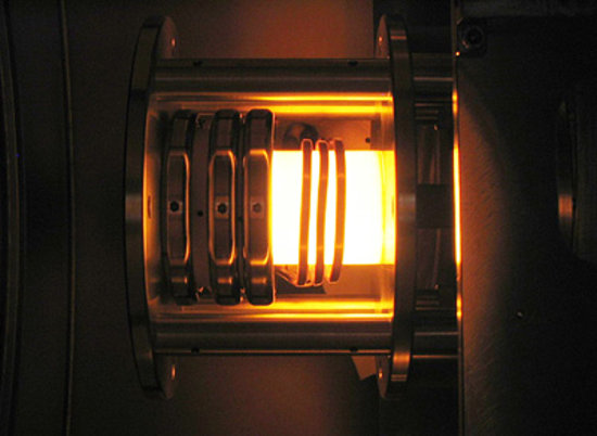 DS4G thruster firing during tests
