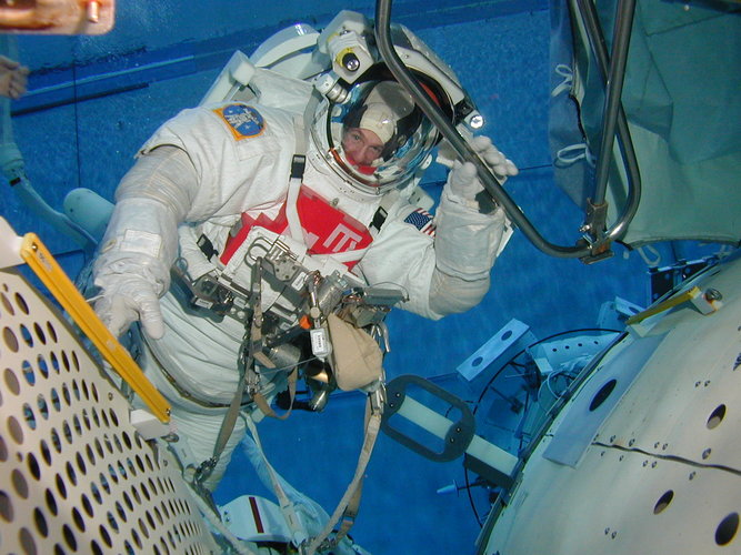 ESA astronaut André Kuipers during EVA training