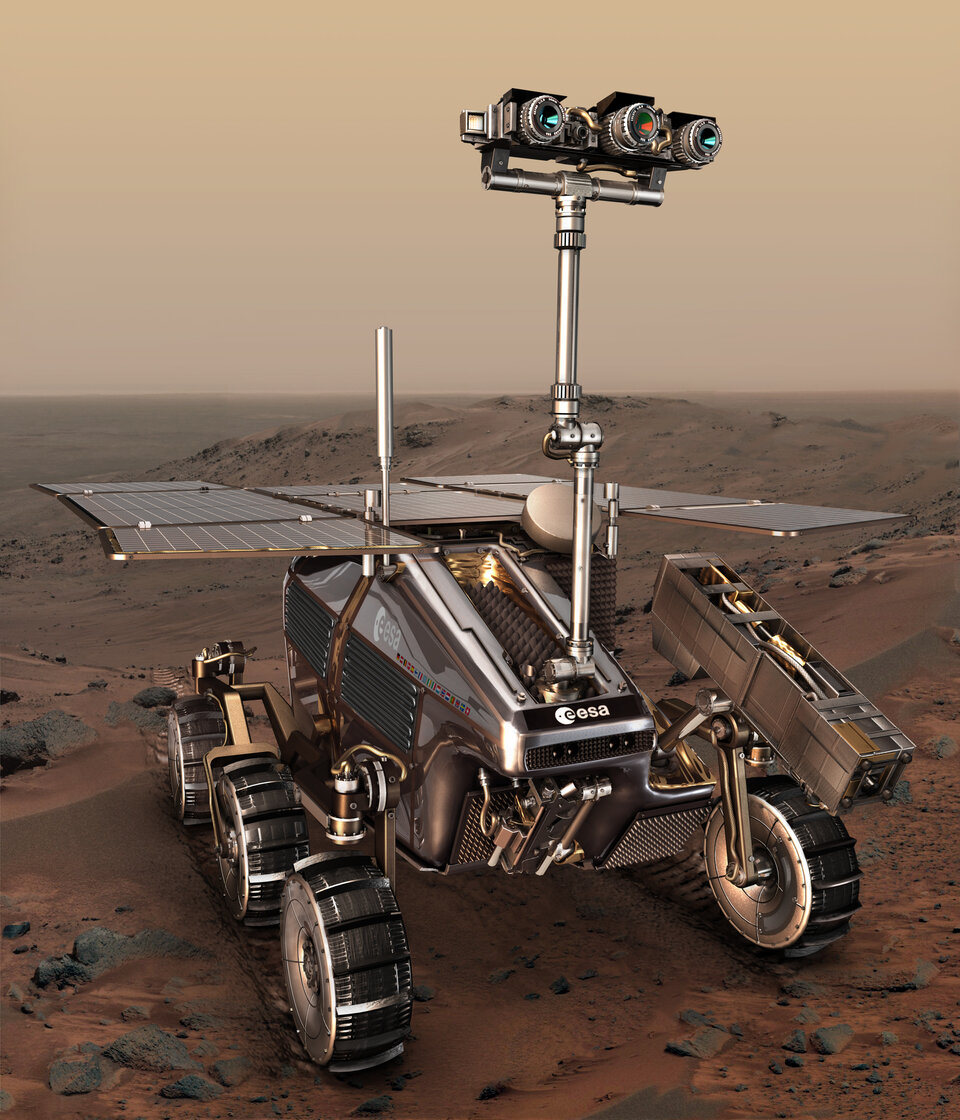 Robotics also plays a leading role in the development of the ExoMars rover