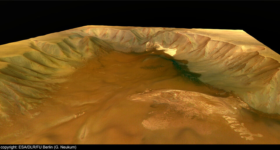 Perspective view of Juventae Chasma - looking west