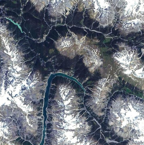 Proba image over the Swiss National Park