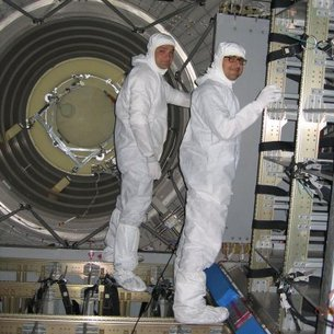 Technicians inside ATV