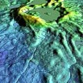 3D visualisation of InSAR derived elevation data on Baffin Islan