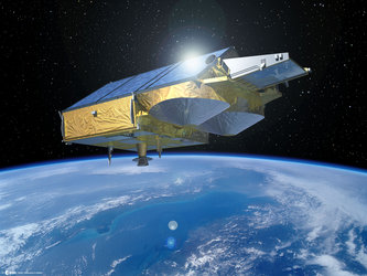 Artist's impression of CryoSat in orbit