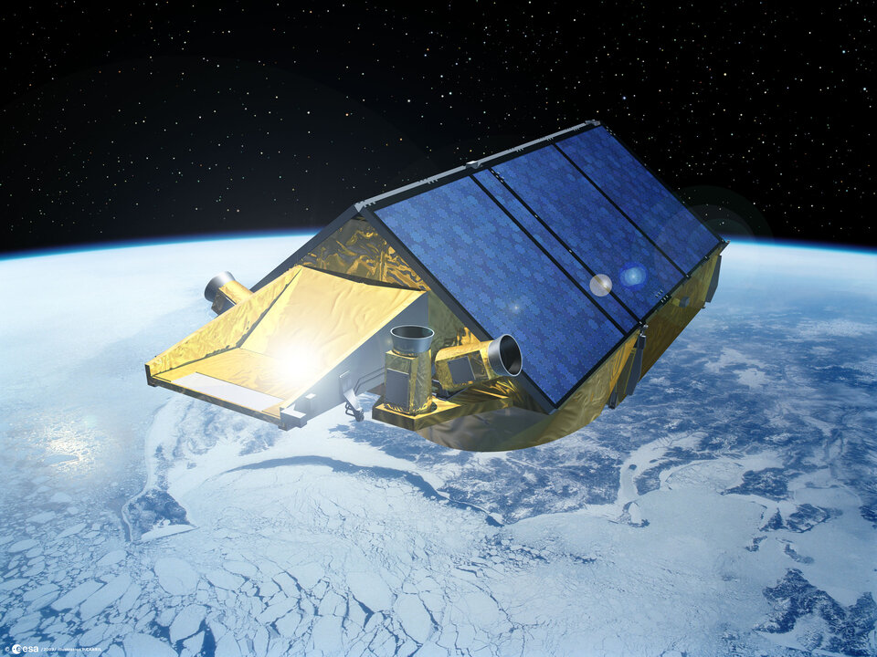 Earth Explorer CryoSat-2 will measure ice thickness