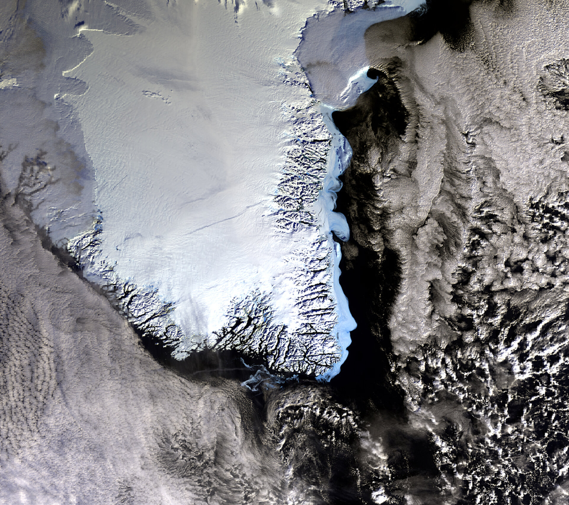 Envisat image of South Greenland