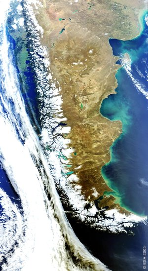 Envisat looks at the Patagonia Plateau