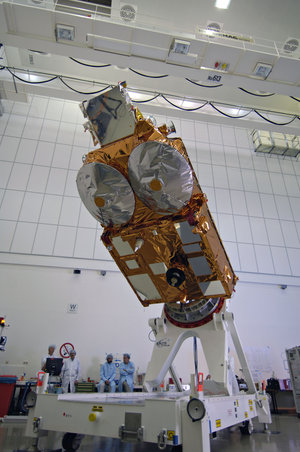 ESA's Cryosat satellite after completion of acoustic tests