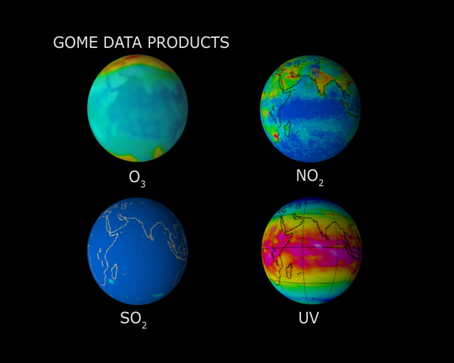GOME-2 data products